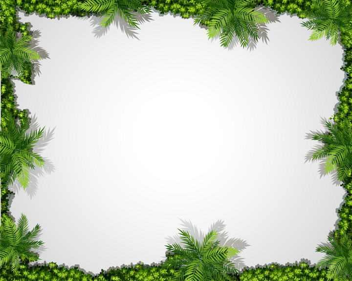 茂密的绿色树林组成的边框图片免抠素材