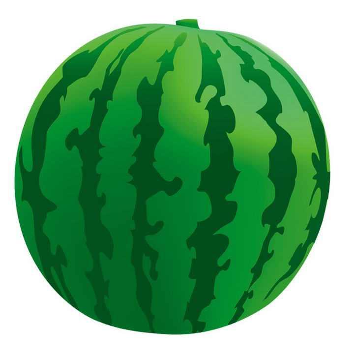 简约手绘风格的西瓜夏天水果图片免抠素材