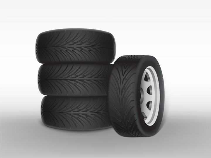 堆放的汽车轮胎矢量图图片免抠素材