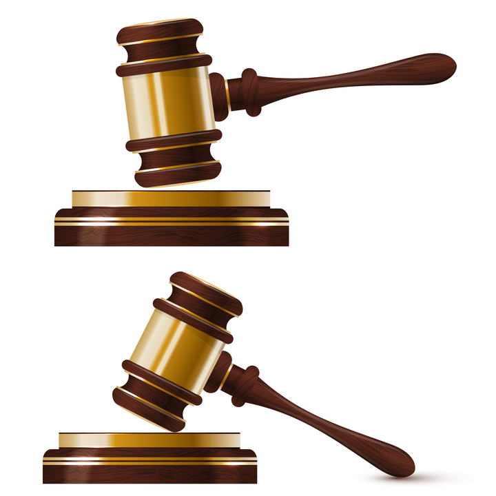 两款金色棒槌法律拍卖拍卖槌图片免扣素材