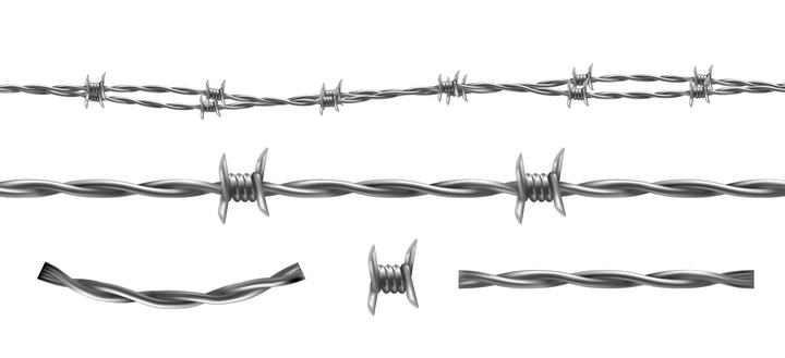 铁丝网针刺图片免抠素材