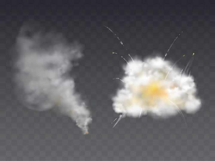 两款爆炸产生的浓烟效果图片免抠素材