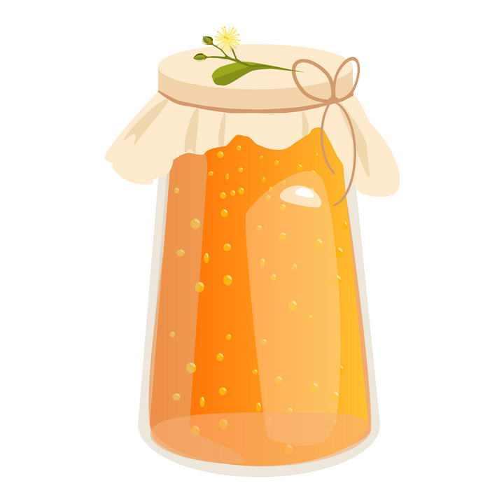 封装起来的玻璃罐中的蜂蜜美食免抠矢量图片素材