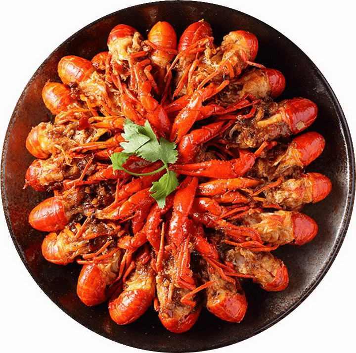 一锅美味的麻辣小龙虾河鲜美食图片免抠素材