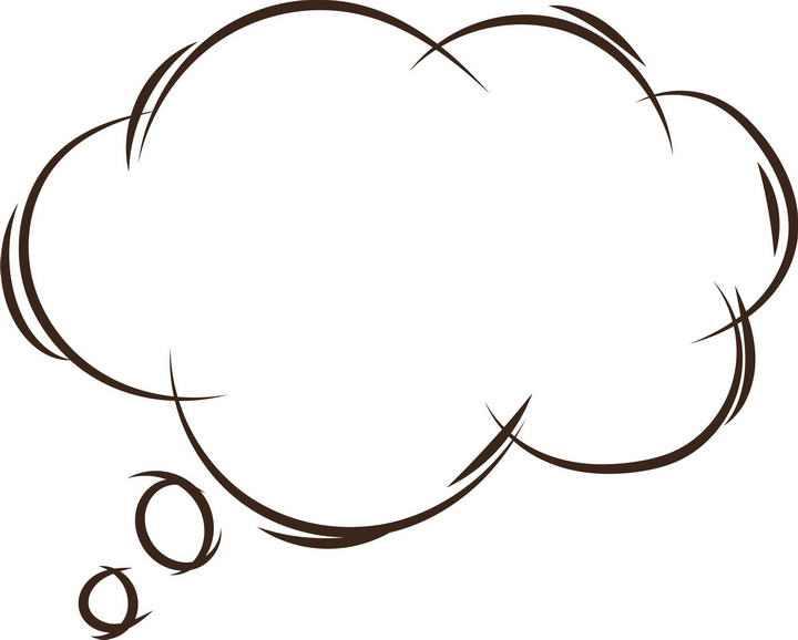 手绘线条涂鸦风格对话框文本框图片免抠素材
