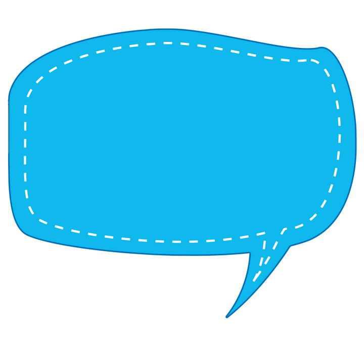 蓝色断点背景风格对话框文本框图片免抠素材