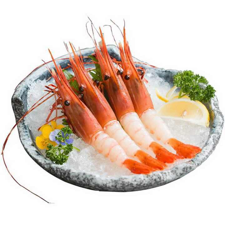 冰鲜的大虾河虾对虾美食图片免抠素材