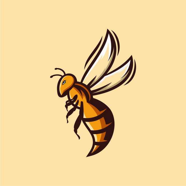 卡通漫画风格马蜂蜜蜂小动物昆虫免抠矢量图片素材
