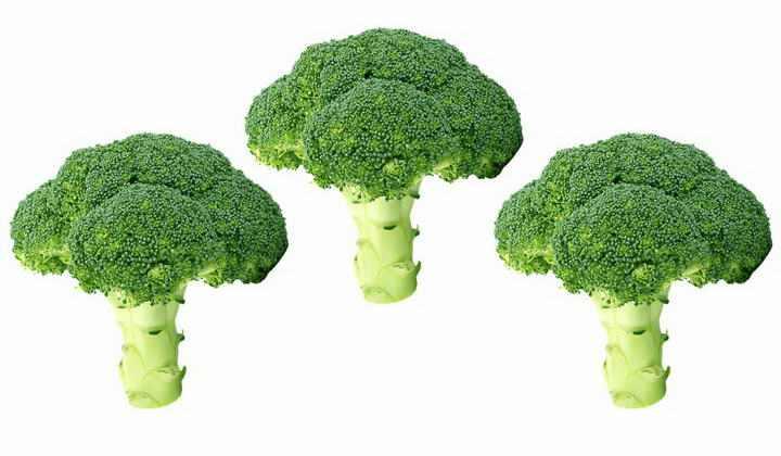 三颗西兰花蔬菜图片免抠素材