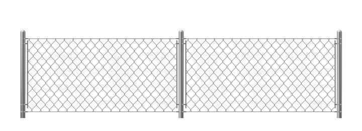 铁丝网围栏铁栅栏图片免抠素材