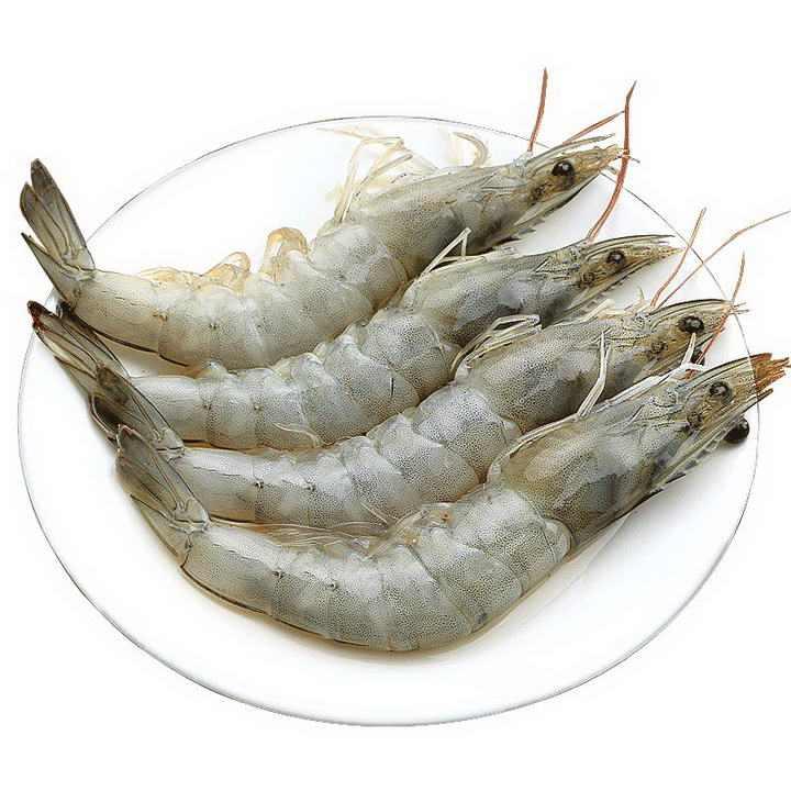 四只大个儿的河虾对虾美食河鲜图片免抠素材