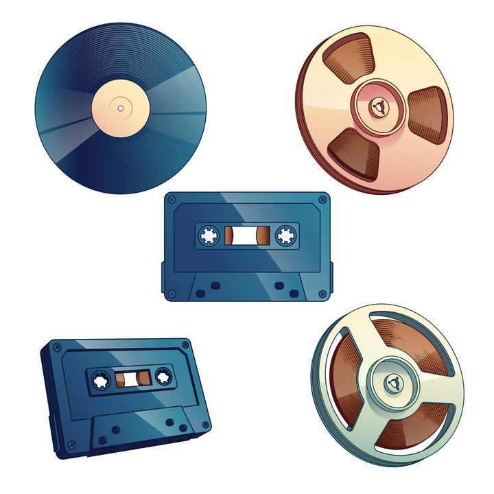 电影放映机胶片磁带唱片图片免抠素材