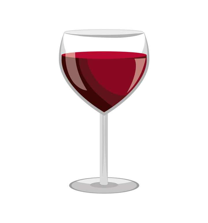 半透明高脚杯酒杯图片免抠素材
