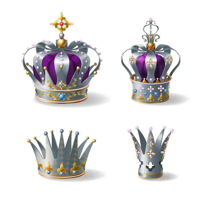 4款英国女皇皇冠图片免抠素材