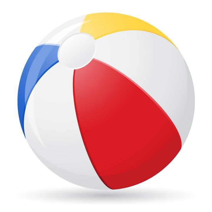 彩色相间的皮球气球图片免抠素材