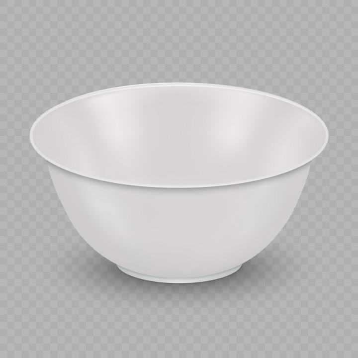 一个逼真白色的饭碗免抠矢量图片素材