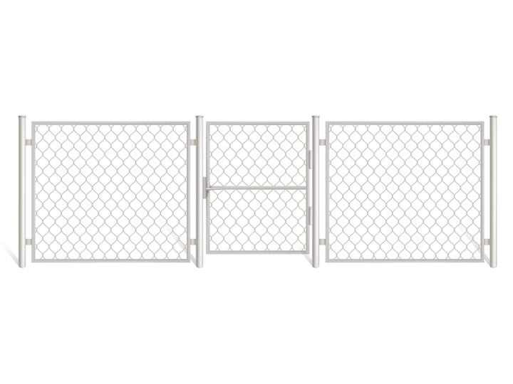 铁丝网铁栅栏围墙图片免抠素材