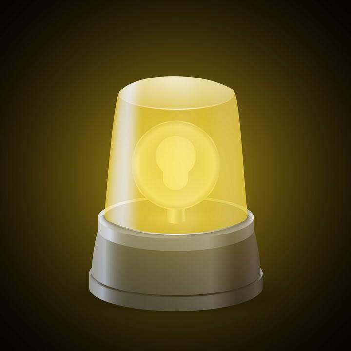 黄色的报警器警示灯免扣图片素材