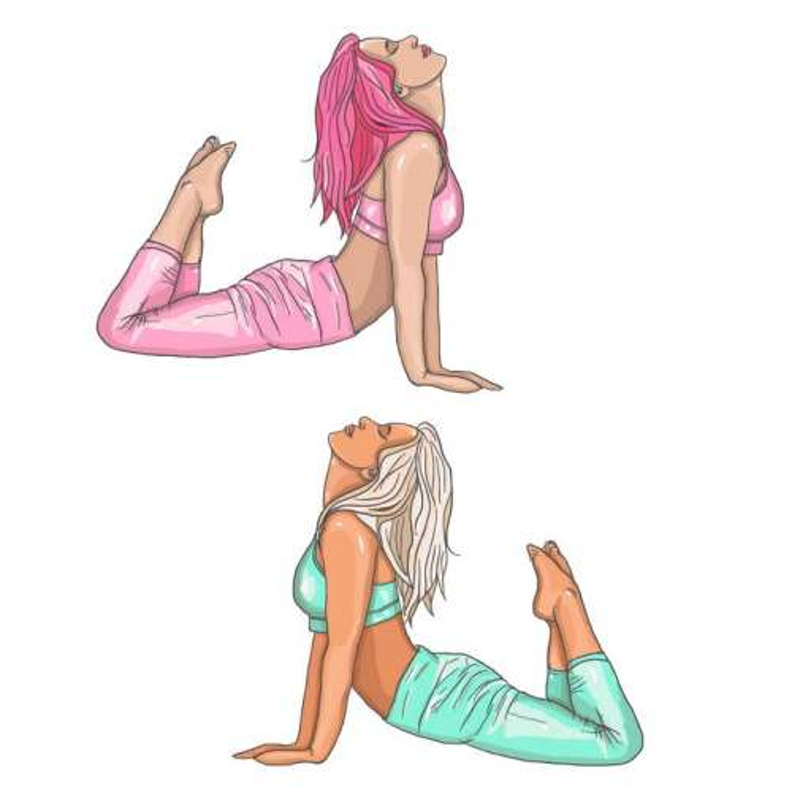 两款正在做瑜伽的美女图片免抠素材
