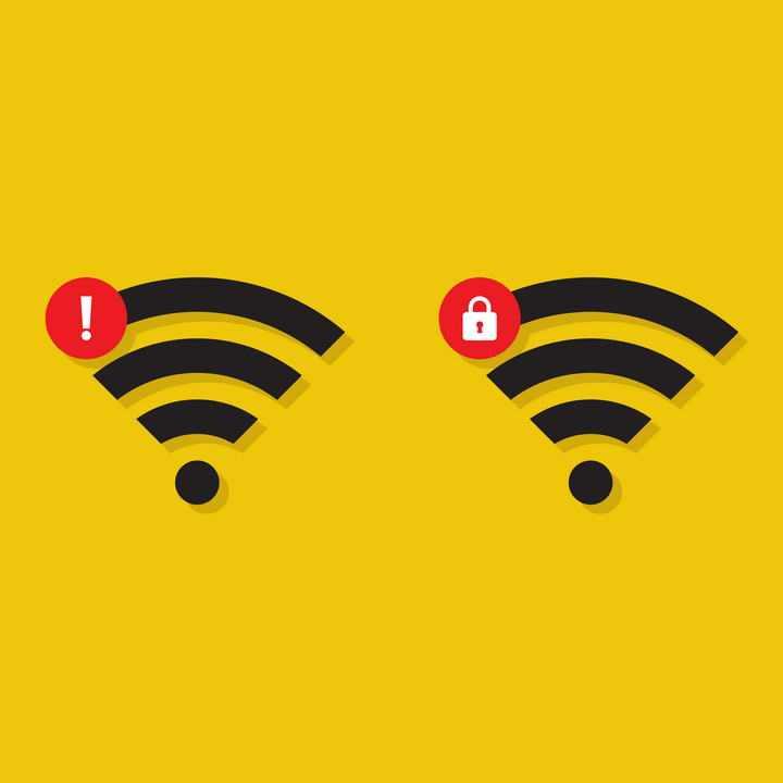 带阴影的两款WiFi信号强度标志图片免抠素材
