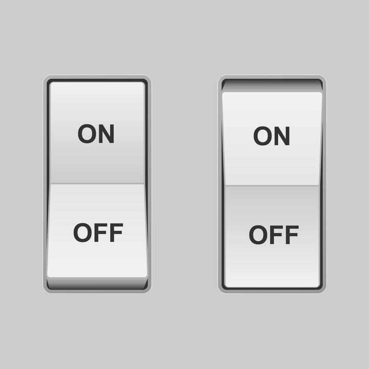 逼真的立体开关按钮控制器免扣图片素材