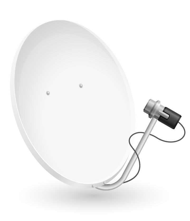 银白色的家用卫星接收器免扣图片素材