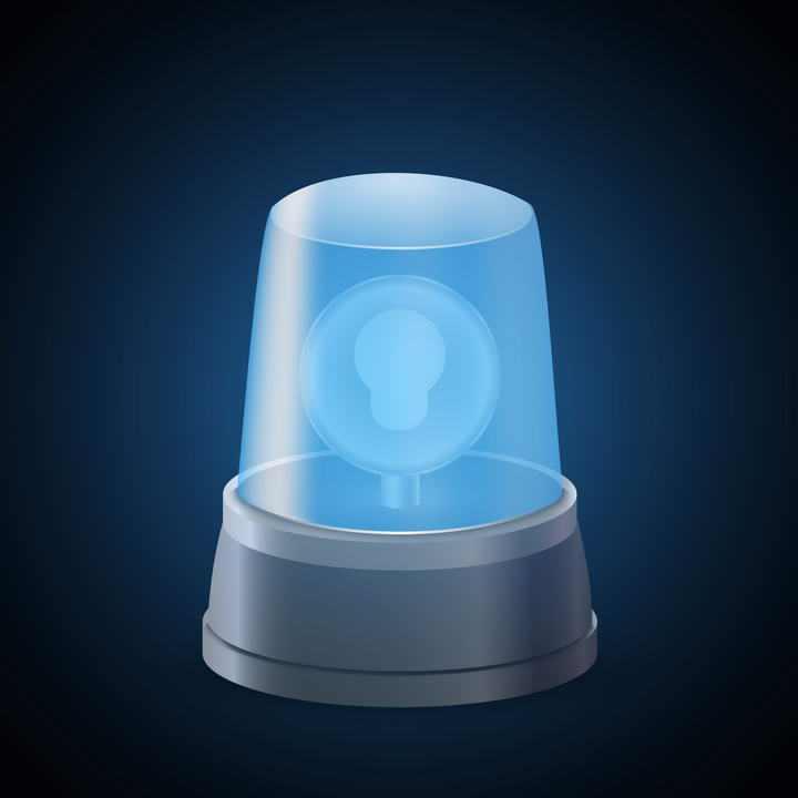 蓝色的报警器警示灯免扣图片素材