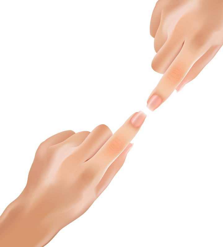 触碰在一起的手指免扣图片素材