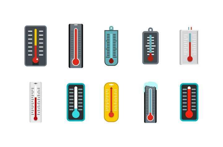 10款可爱风格温度计图标免扣图片素材