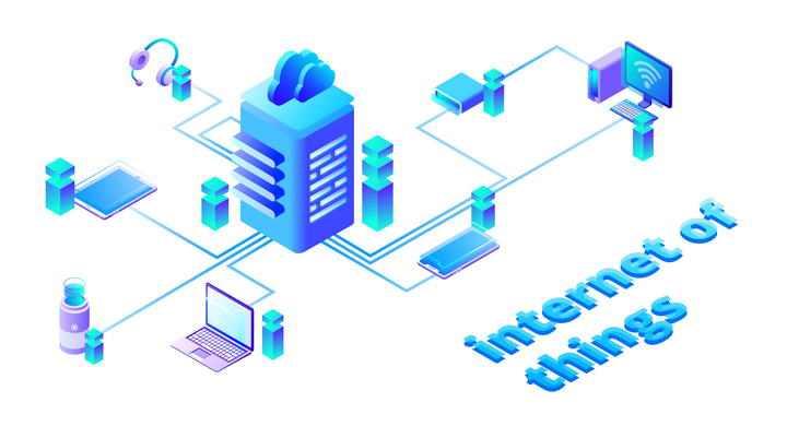 2.5D等距视图风格互联网云计算服务器免扣图片素材