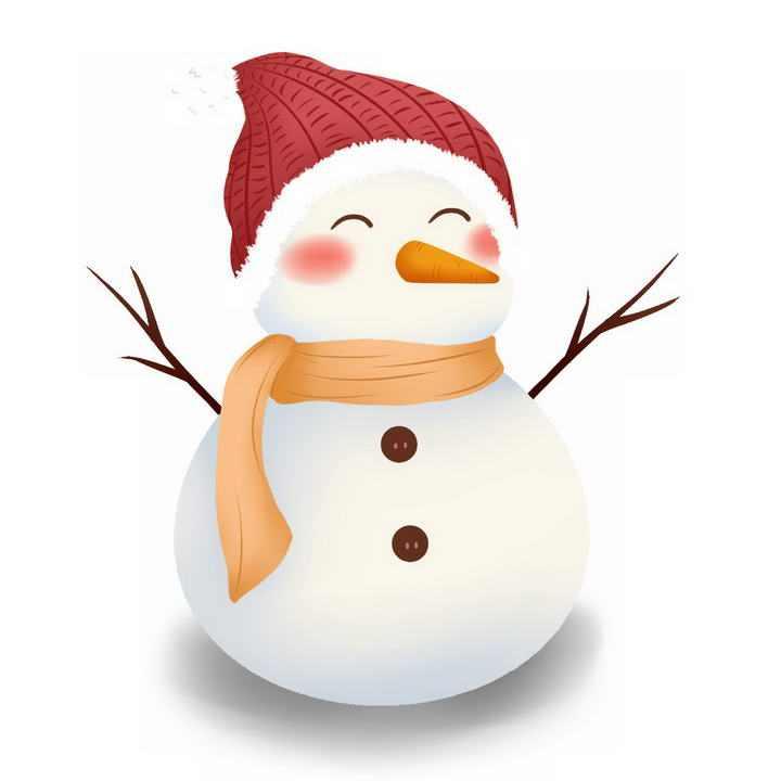 冬天可爱的卡通雪人免抠PNG图片素材