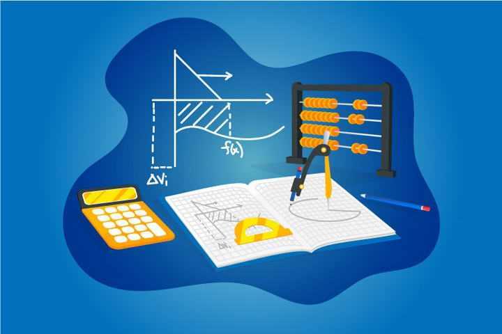 扁平化风格数学元素教学免抠矢量图片素材