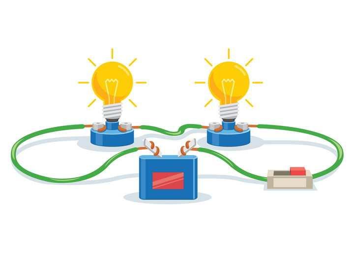 彩色学生电路物理实验用品图片免抠矢量图