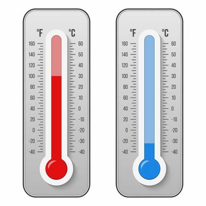 两种颜色的温度计免抠png图片矢量图素材