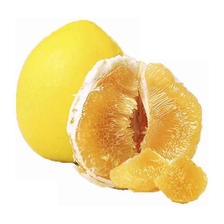 剥开的黄色水果美味柚子png免抠图片