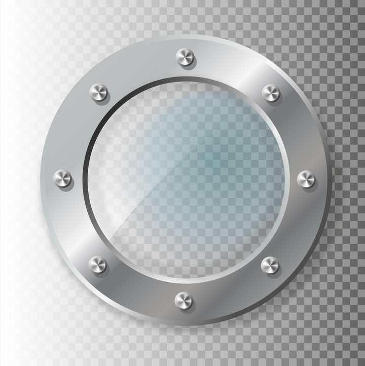 不锈钢玻璃圆盘图片免抠矢量图