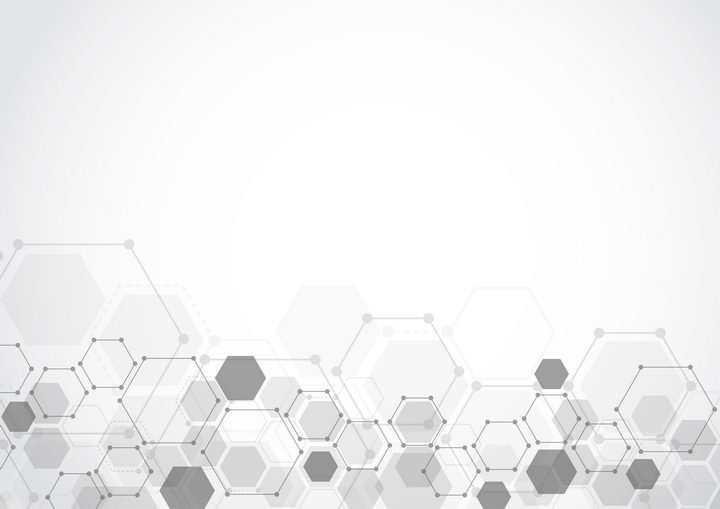 点线组成的六边形装饰图片免抠矢量图