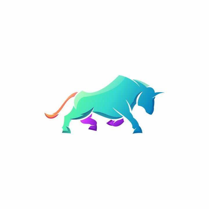 彩色公牛LOGO设计方案免抠png图片矢量图素材