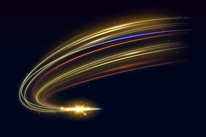 快速流动的光芒光线效果图片