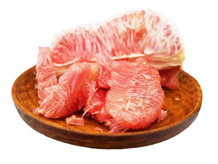 剥开的美味水果红心柚子png免抠图片
