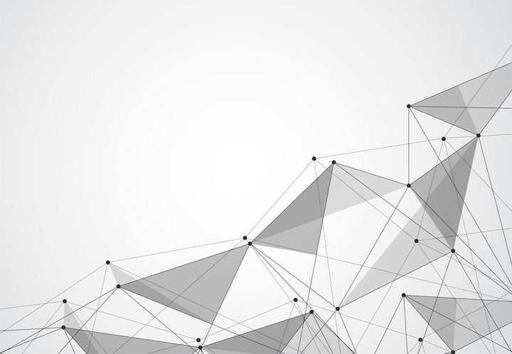 点线组成的三角形装饰图片免抠矢量图