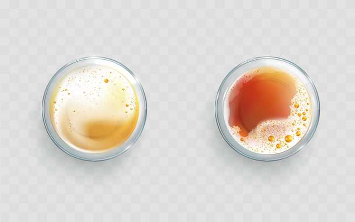 俯视视角两杯红茶喝茶饮料图片免抠素材