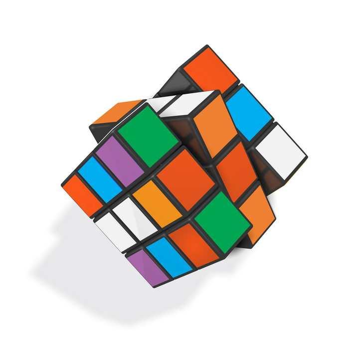 立体风格的彩色魔方益智玩具免抠矢量图片素材