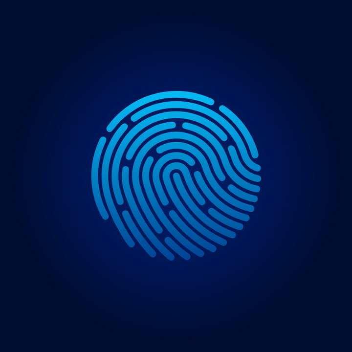 适合各类APP使用的指纹解锁标志免抠矢量图片素材