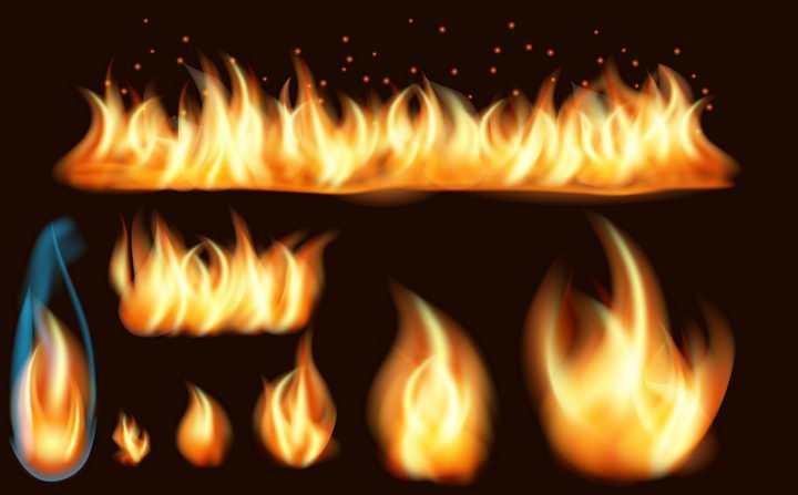 多种燃烧的火焰图片免抠素材