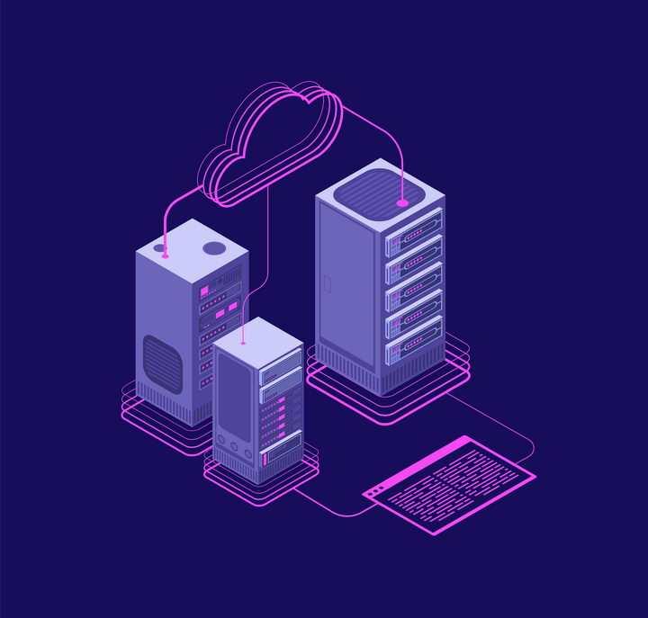 抽象风格云服务器云计算分布式计算区块链配图图片免抠素材
