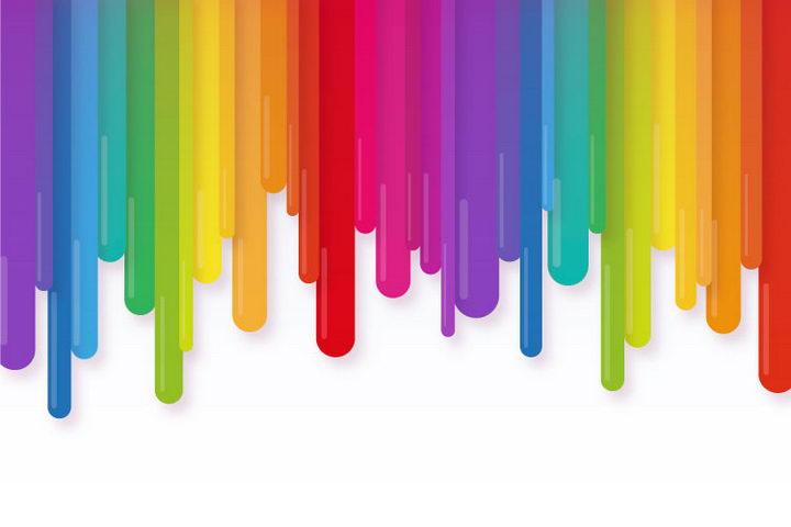 彩虹色流下来的液体图案图片免抠素材 装饰素材-第1张