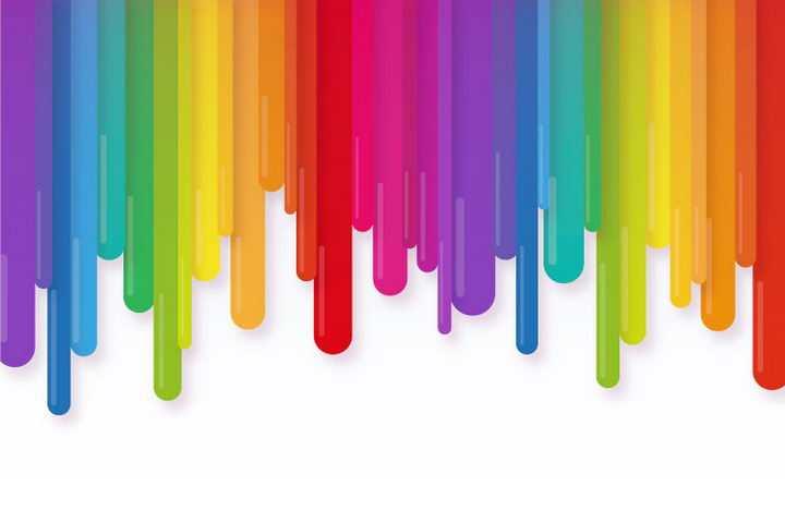 彩虹色流下来的液体图案图片免抠素材