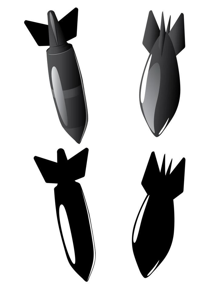 4款黑色的炸弹武器图片免抠素材图片免抠素材 军事科幻-第1张