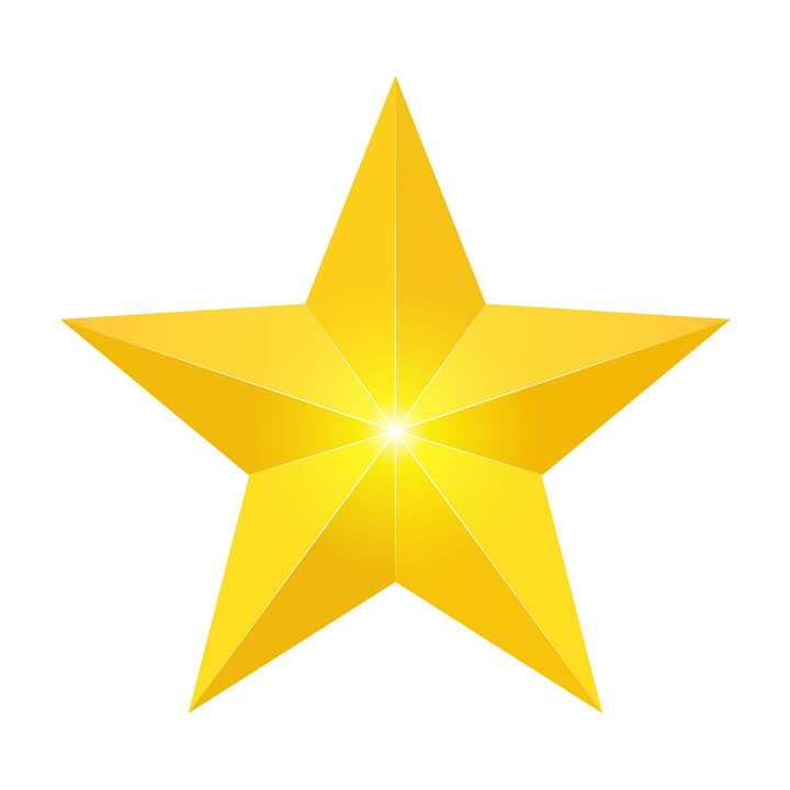 黄色的五角星图案图片免抠素材